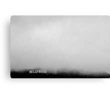 Hollywood Sign in the Mist Canvas Print