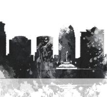 Orlando, Florida Skyline BW Sticker