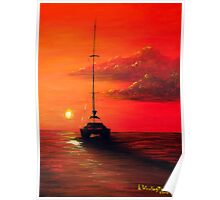 Sunset Cruise on a Catamaran Poster