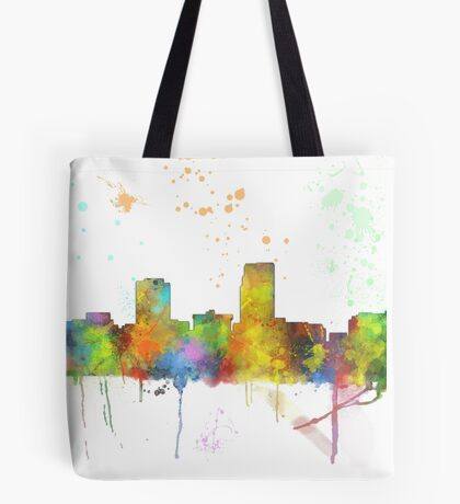 Omaha, Nebraska Skyline Tote Bag