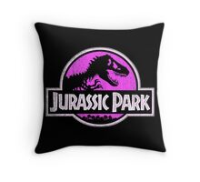 Jurassic Park Logo Grunge Throw Pillow