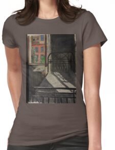 Postcard from Europe - Venice through the bedroom window Womens Fitted T-Shirt