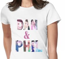 DAN & PHIL PICTURE DESIGN. Womens Fitted T-Shirt