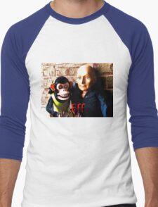 Hugo and Jolly Chimp: BFF Men's Baseball ¾ T-Shirt