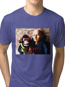 Hugo and Jolly Chimp: BFF Tri-blend T-Shirt