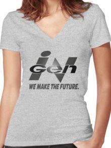 InGen Slogan Women's Fitted V-Neck T-Shirt