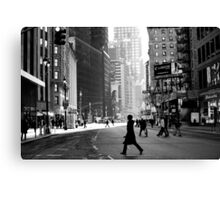 Street Life on Broadway, New York City Canvas Print