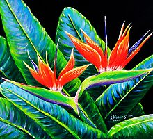 Birds of Paradise by kwoolingtonart
