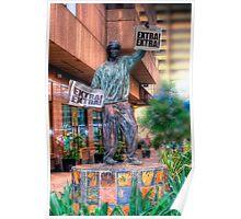 Newspaper Boy - Statue Poster