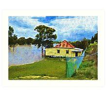 Flooding in Warwick QLD today. 28 Jan 2013 Art Print