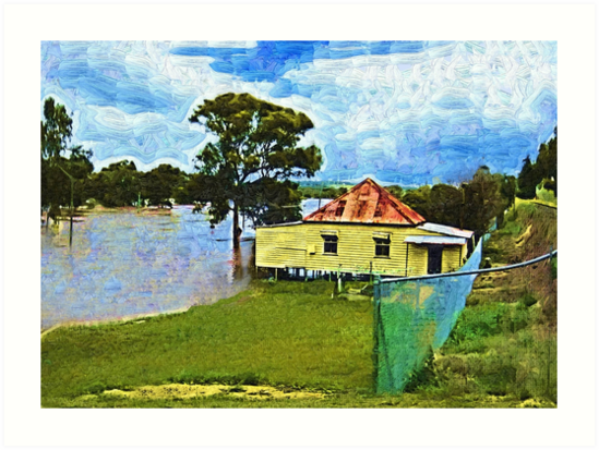 Flooding in Warwick QLD today. 28 Jan 2013 by Albert