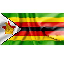 Zimbabwe Flag Photographic Print