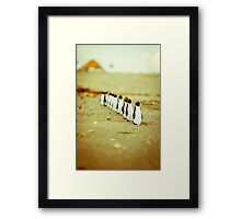 Penguins going for a walk Framed Print