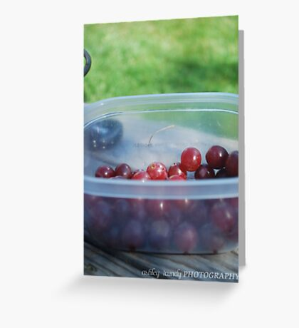 Childs snack Greeting Card