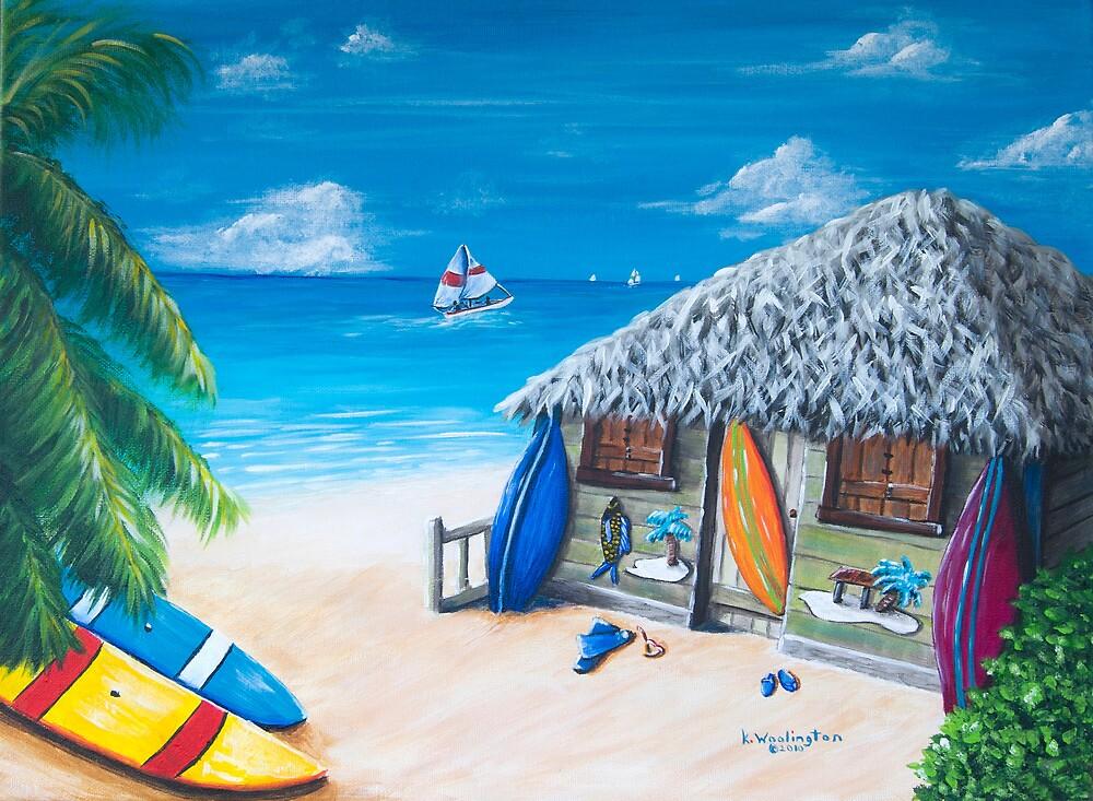 Surfer's Paradise by kwoolingtonart