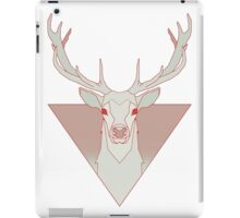 Deer in triangle RED iPad Case/Skin