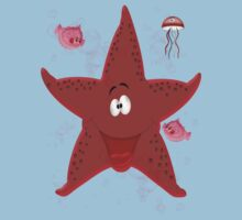 Happy Star Fish ... tee shirt One Piece - Short Sleeve