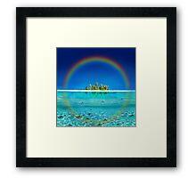 Rainbow Island Framed Print
