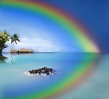Rainbow Island by Digital Editor .