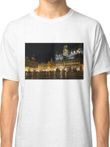 Brussels - the Magnificent Grand Place at Night Classic T-Shirt