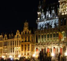 Brussels - the Magnificent Grand Place at Night Sticker