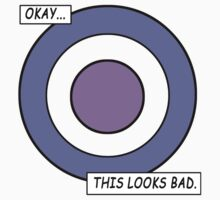 "Hawkeye ""Okay... This looks bad."" bullseye costume tee by Treeshius"