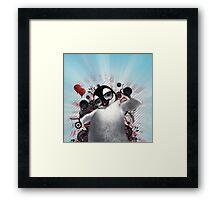 Penguin cool Framed Print