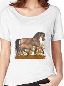 Arabian Mare and foal.. tee shirt Women's Relaxed Fit T-Shirt