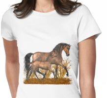 Arabian Mare and foal.. tee shirt Womens Fitted T-Shirt