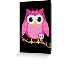 Pretty Pink Owl .. tee shirt Greeting Card