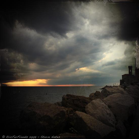 Storm Notes - Piran, Slovenia by Eric Strijbos