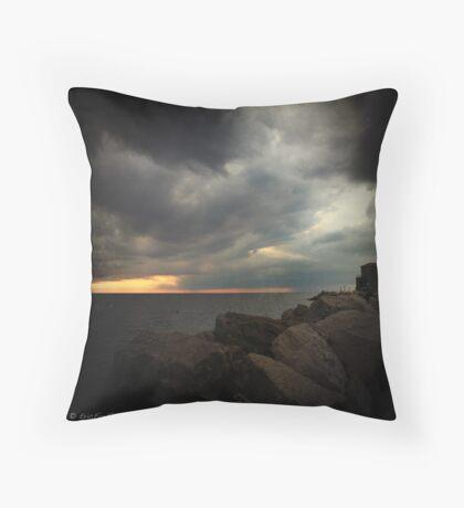 Storm Notes - Piran, Slovenia Throw Pillow