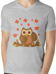 Flower Owl .. tee shirt Mens V-Neck T-Shirt
