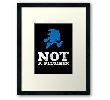 Not a plumber. Framed Print