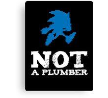 Not a plumber. Canvas Print