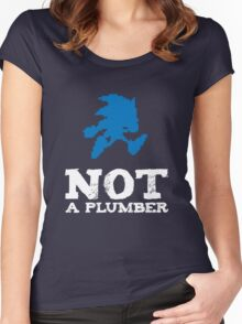 Not a plumber. Women's Fitted Scoop T-Shirt
