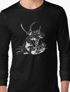 Cyborg Ninja (White Opaque) Long Sleeve T-Shirt