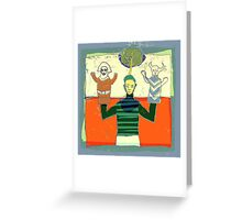 the puppet master Greeting Card