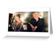 Buffy&Spike-Flooded Greeting Card