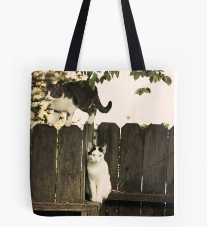 The Fence Cats Tote Bag