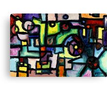 Like Clockwork, abstract oil on canvas Canvas Print
