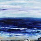 Seascape with White cats by Regina Valluzzi