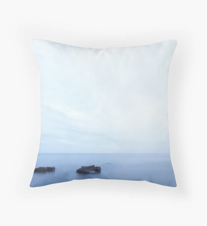 Serenity in blue Throw Pillow