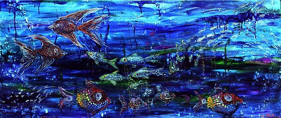 Lipstick Fish by Regina Valluzzi