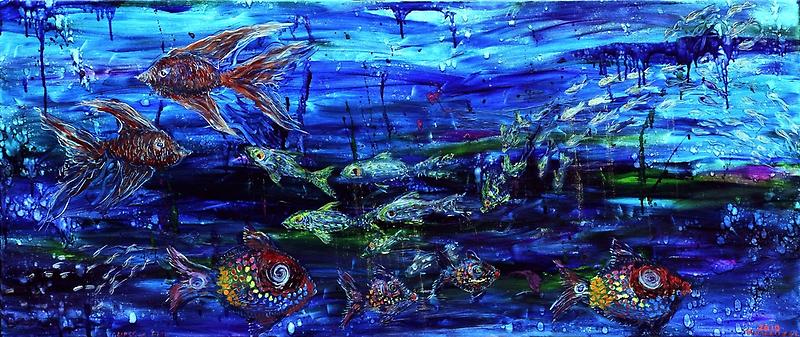 Lipstick Fish by Regina Valluzzi
