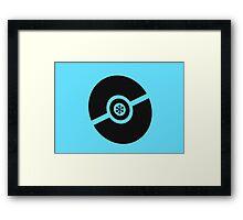 Pokemon Pokeball Ice Framed Print