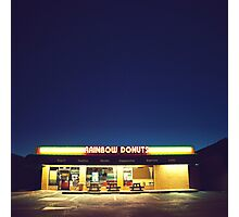 Rainbow Donuts. Photographic Print