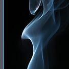 Smoky blues Silk by Richard G Witham