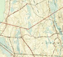 Massachusetts  USGS Historical Topo Map MA Fall River East 351685 1944 31680 Sticker