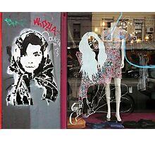 Brunswick Street graffiti Photographic Print